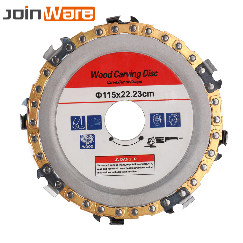 5inch Grinder Disc Chain Woodworking Saw Blade Abrasive Cut Chain For 125x22mm Angle Grinder