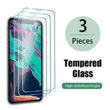 3 pçs vidro temperado para iphone x xs max xr 12 mini cobertura completa de vidro no para 7 8 6s plus 5 5S se 11 pro protetor de tela