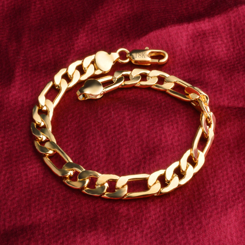 wholesale Noble fashion silver color Gold color 8MM men Women Bracelet charm wedding chain high quality jewelry H200