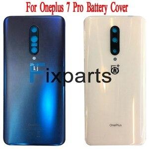 Image 3 - Oryginalne szkło A6000 do OnePlus 6 7 Pro tylna pokrywa baterii tylna szyba do Oneplus 6T pokrywa baterii 1 + 6 obudowa Case + klej