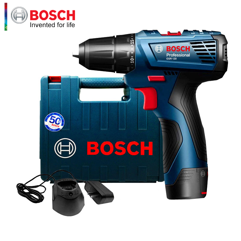 Bosch Hand Drill GSR 120-Li Electric Screwdriver 12V Lithium Drill Household Power Tool Screwdriver With One Battery