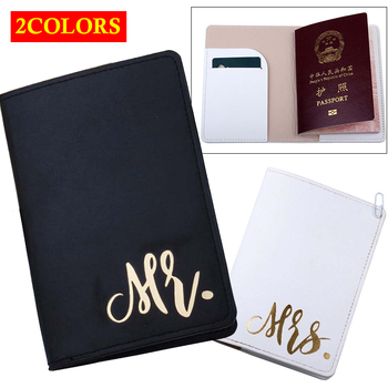 women pu leather passport cover unisex cover on the passport with hasp solid color passport case travel documents card holder Mr&Mrs Travel Passport Cover Wallet Purse Women Men Travel Credit Card Holder Travel ID Document Passport Holder Bag Pouch Case