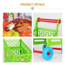 Лидер продаж rea qi детский игровой дом кухня эмуляция игрушка фрукты и овощи Собранный набор корзина для покупок