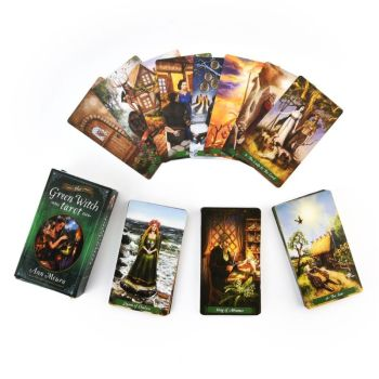 78pcs The Green Witch Tarot Cards Deck Party Board Game Oracle Playing Card 24BD недорого