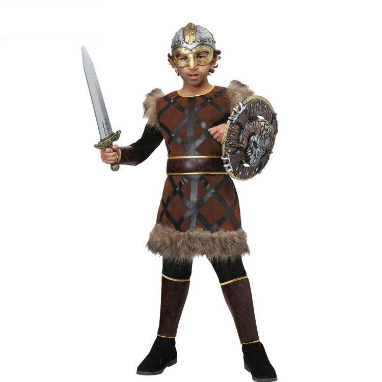 IREK New Party Halloween Costume Boy Medieval Nordic Viking Warrior Heroic Pirate Cosplay Costume
