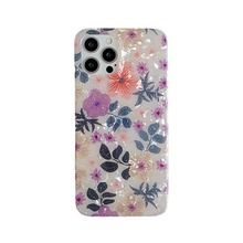 Luxury shiny fresh shell flower phone case is suitable for Apple 13/12 iPhone 12 11Pro Max X XR XS 7 8 Plus SE20 protective case