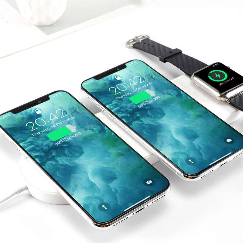3 in1 מהיר צ 'י מטען אלחוטי Pad עבור iPhone Xs/XsMax/8/8 בתוספת/Xr אלחוטי תחנת טעינה עבור אפל שעון/Airpods מטען