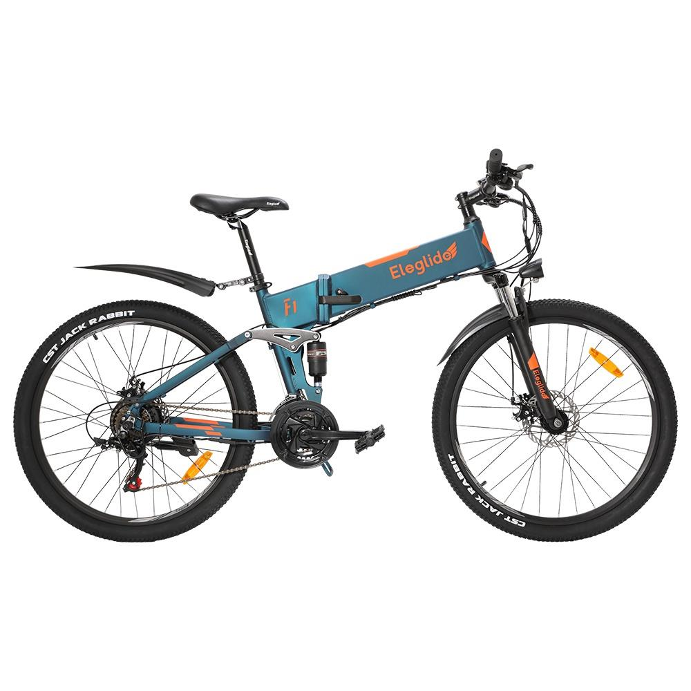 ELEGLIDE-F1-bicicletta-elettrica-pieghevole-26-pollici-MTB-Ebike-250W-Hall-Brushless-Motor-SHIMANO-Shifter-21 Offerta ELEGLIDE F1 a 760€: MTB Elettrica Economica AMMORTIZZATA