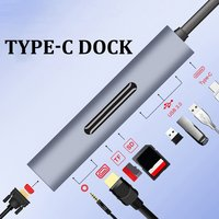 9 in 1 3 Dock USB C HUB Type c to HDMI+VGA with Audio HD Converter Adapter for Macbook For Samsung Adapter