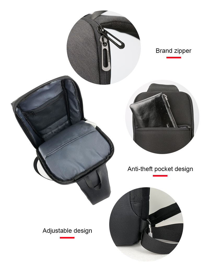 Image 4 - Kingsons 2019 New 3174 A  Leisure Travel Single Shoulder Backpack 10.1 inch Chest Backpack For Men Women Casual Crossbody Bag-in Backpacks from Luggage & Bags