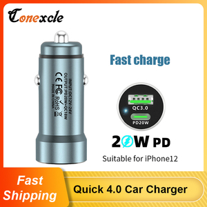 Image 1 - PD USB C Car Charger Quick Charge 4.0 3.0 38W Fast Charging For iPhone 12 11 XS X XR 8 7 Xiaomi QC4.0 QC3.0 Type C Phone Charger