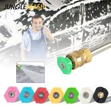 JUNGLEFLASH 4000psi 275bar 고압 세척기 스노우 폼 랜스 스프레이 노즐 팁 세차 청소 도구 액세서리 노즐