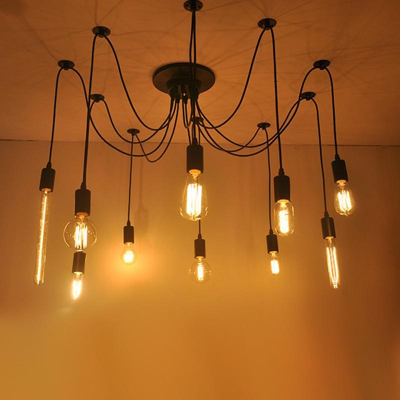 Chandelier DIY art spider Chandelier Lamp Chandelier modern Nordic retro Edison bulb retro loft retro Chandelier Pendant Lights     - title=