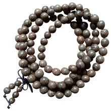 8mm Prayer Beads Bracelet Tibetan Buddhist Rosary Charm Mala Meditation Necklace Yoga Lucky Wooden Bracelet For Women Men(China)