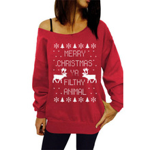 New Women's Pullover Christmas Long Sleeve Santa Snowflake Elk Causal Christmas Sweater Autumn Round Collar Funny Novelty Top slimming trendy stand collar christmas snowflake jacquard long sleeve polyester sweater for men
