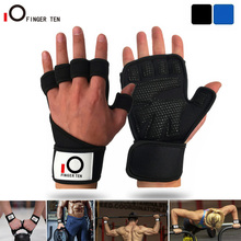 Padded Gym-Gloves Weight-Lifting Wrist Support-Pair Extra-Grip Fitness Women New Palm