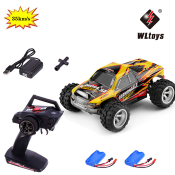 1:18 Wltoys A979-A 2.4G 1/18 Scale 4WD RC Speedcar 35km/h Remote Control Racing High Speed Shockproof Off-Road Car Yellow Metal 1 20 scale 2 ch wireless remote control r c racing car red 3 x aa