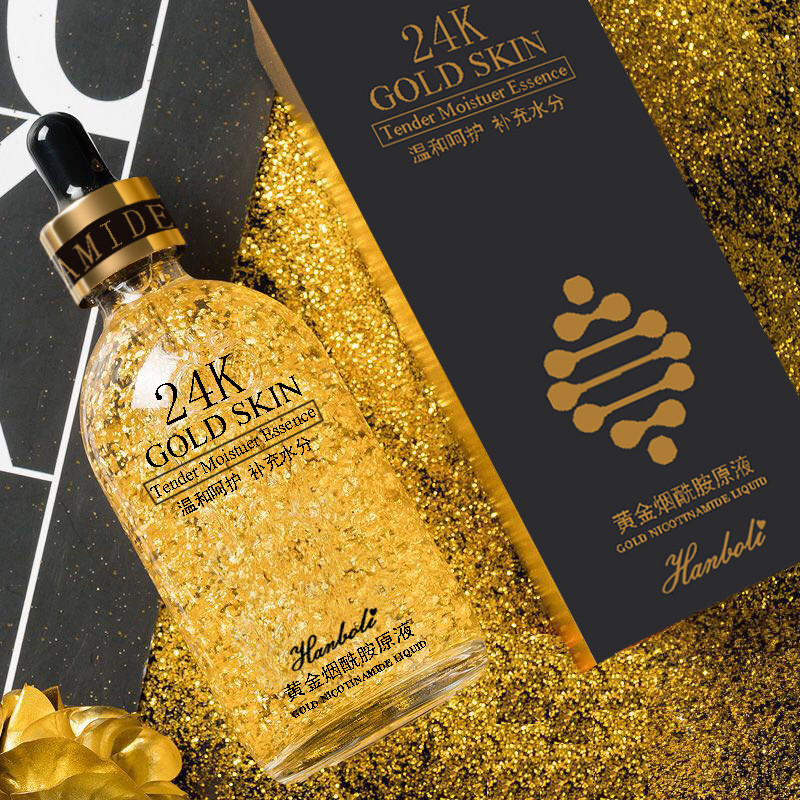 24k Gold Essence Shrinking Pores Hydrating Niacinamide Original Fluid Anti-aging Face Serum Face Care 30ml New Face Care Product