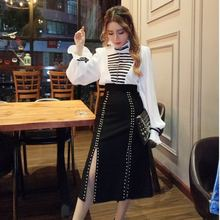 Новинка осени 2020 модная рубашка на пуговицах с воротником