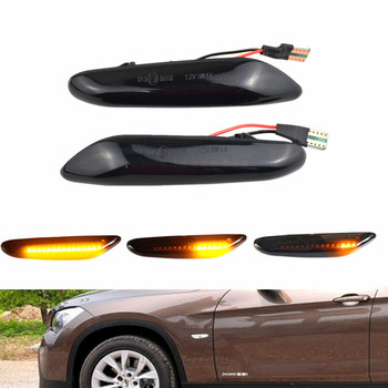 2x Car Light Dynamic Flowing Turn Signals LED Indicator Side Marker Lights For BMW E60 E61 E90 E91 E87 E81 E83 E84 E88 E92 E93 image