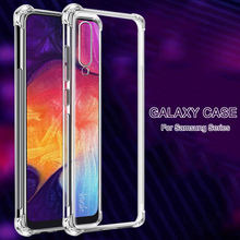 Shockproof Phone Case For Samsung Galaxy A50 A51 A70 A71 A80 A10 A40 A20 A30 A60 A50S A70S A30S clear Silicone Case Back Cover