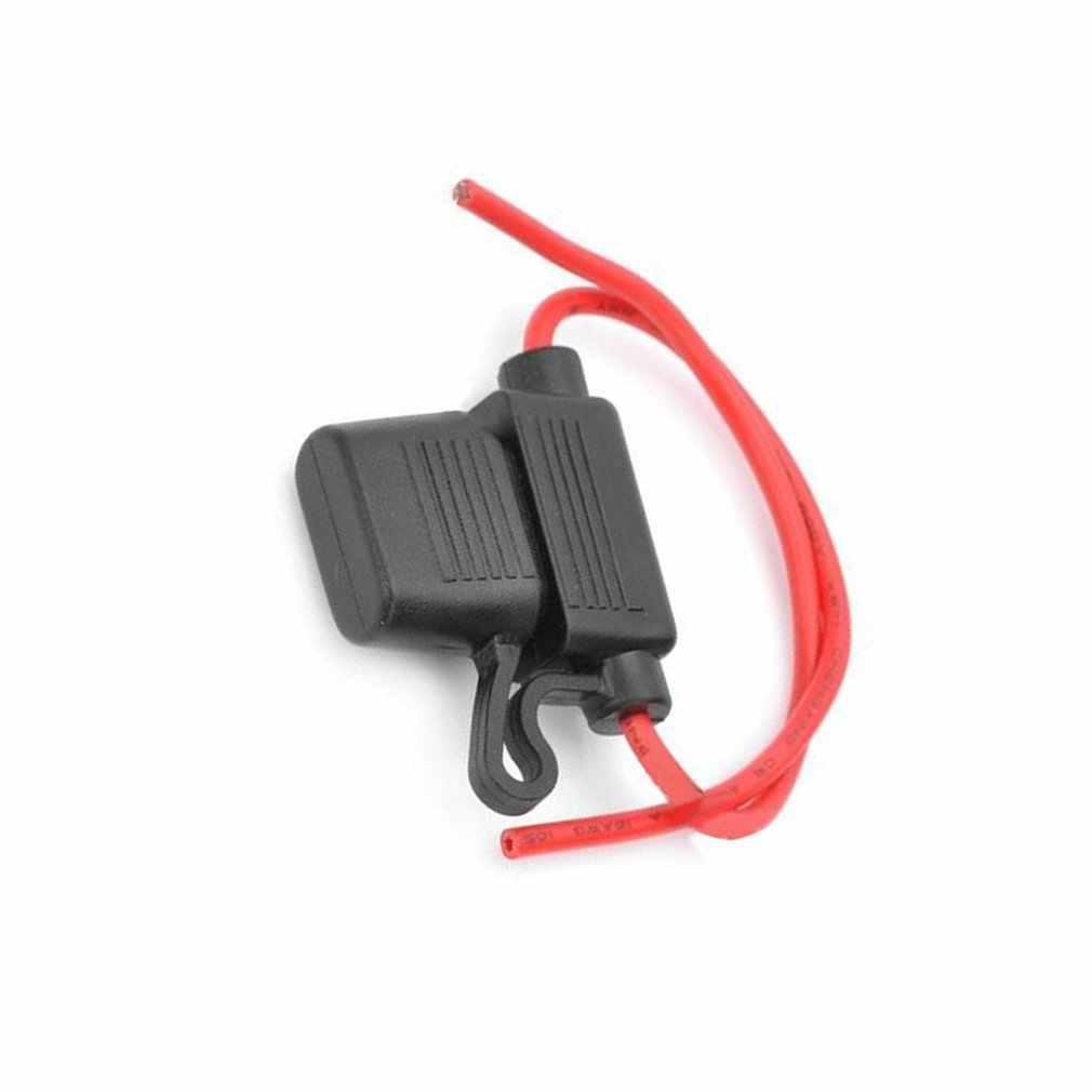 Waterproof 10//15//20//30A Amp In Line Stanard Blade Fuse Holder Fuses Car