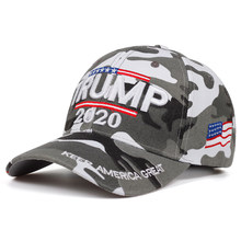 Donald Trump 2020 Cap Camouflage USA Vlag Baseball Caps Houden Amerika Grote camo Hoed 3D Borduren Ster Brief Camo Army(China)
