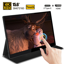 15.6 4K USB 3.1 Type C touch screen portable monitor for Ps4 Switch Xbox Huawei Xiaomi phone gaming monitor Laptop LCD display