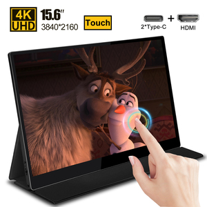 Image 1 - 15.6 4K USB 3.1 Type C touch screen portable monitor for Ps4 Switch Xbox Huawei Xiaomi phone gaming monitor Laptop LCD display