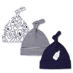 3pcs Per Lot Baby Hats 100% Co