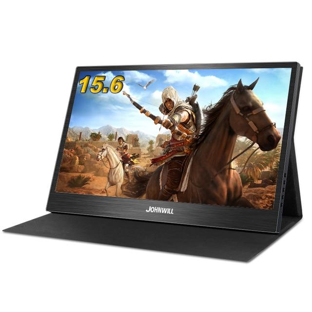ポータブルモニター15.6インチ液晶usbタイプc hdmiゲームモニターips 1080 1080p hdディスプレイPS4ノートパソコンの電話xboxスイッチpcケース