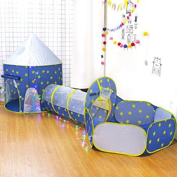 Dzieci 3 w 1 namiot statek kosmiczny namiot przestrzeń jurta namiot zabawkowy domek przenośny dzieci piłka oceaniczna basen rakieta statek zagraj w namiot basen z piłeczkami tanie i dobre opinie Poliester none 3 lat XMJ-0235 Sport Składany