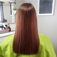 370 Lace Frontal Wig Chestnut Brown Straight Human Hair Wigs 150 180 Density 360+ Lace Frontal Wig Remy Pre Plucked Qingdao Wigs(China)