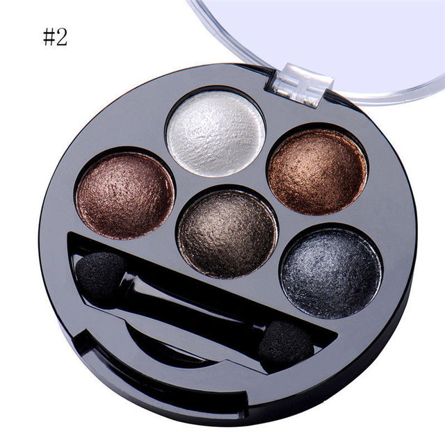 5 Colors Eyeshadow Palette Glitter Shimmer Matte Smokey Color Eye Shadow Makeup Long Lasting Easy To Wear Smooth Powder Cosmetic 4