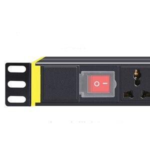 Image 2 - PDU 1U szafka sieciowa Rack listwa zasilająca rozdzielacz 1/2/3/4/5/6/7/8/10/12/14 jednostki uniwersalny rozłącznik gniazda wtyczka