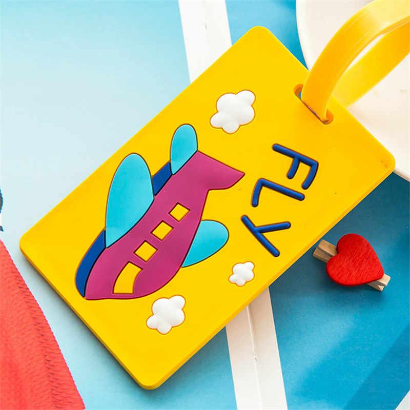 Moda lindo Kawaii etiqueta para equipaje, Valijas de dibujos animados Dirección de identificación titular de la etiqueta del equipaje de Ge identificador de accesorios de viaje