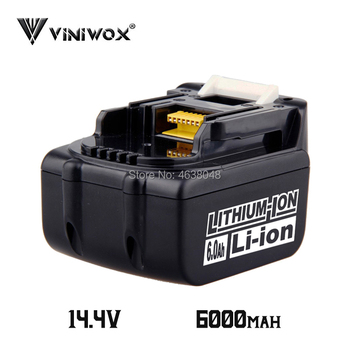 New 6000mAh BL1460 14.4V Lithium Ion Battery Replacement for Makita BL1440 BL1450 LXT200 BL1430 Rechargeable Battery Packs LXT