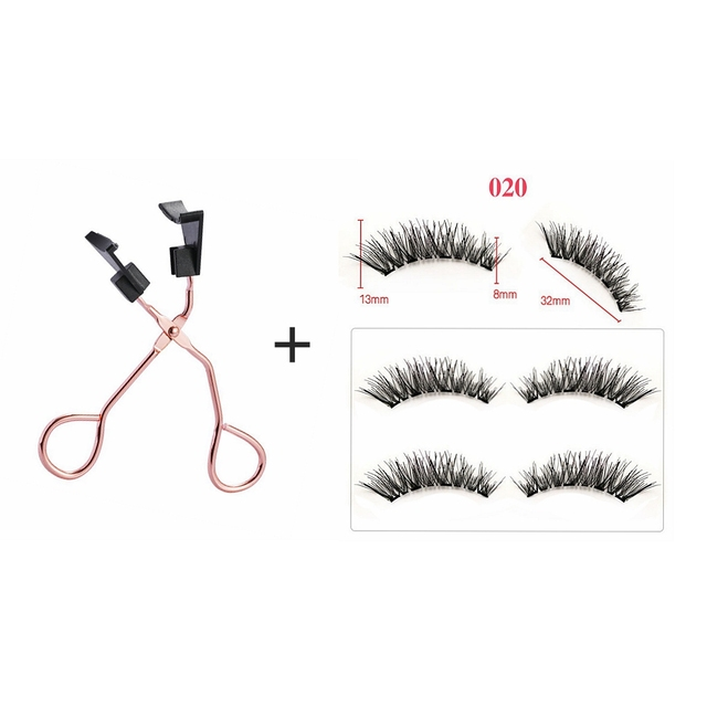Magnetic Eyelashes Natural 3D Magnetic Eyelash No Glue, with Applicator Clip,pestañas magneticas,cils magnetique,cilios magnetic 3