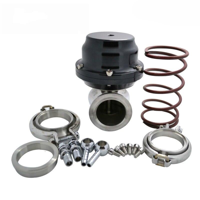 44mm 8.7PSI V Band External Wastegate Kit Turbo Wastegate With V Band Flange Exhaust Systems Black|Turbocharger| |  - title=