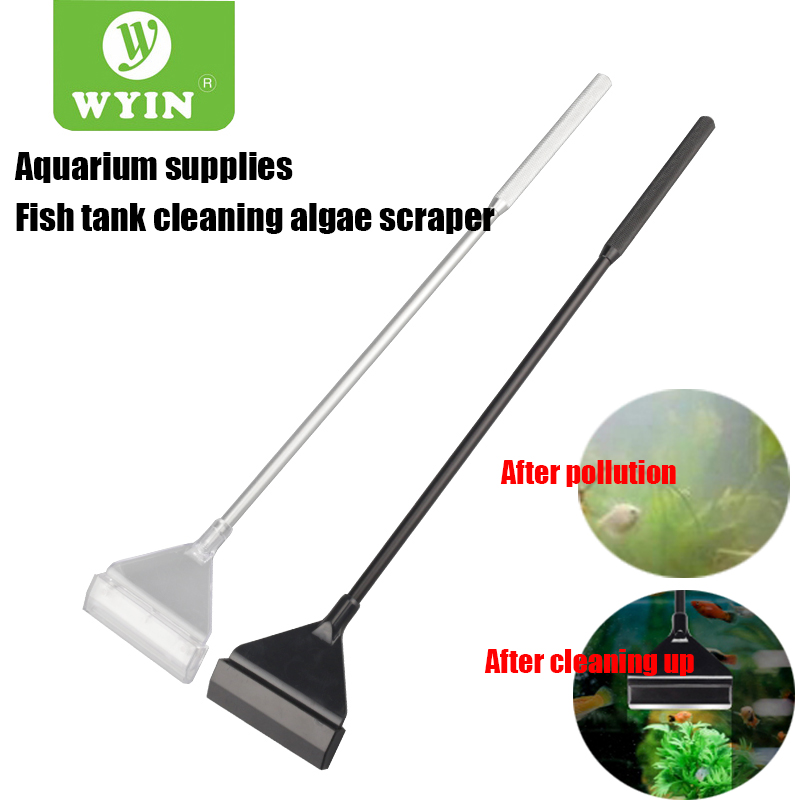 WYIN Stainless Steel Aquarium Fish Tank Algae Scraper Blade Aquatic Water Live Plant Grass Cleaning Multi-Tool Cleaner Kit Set