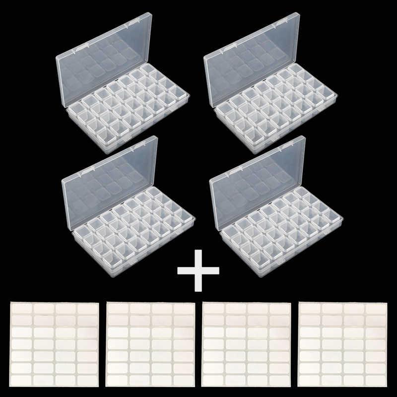4/28/56 gitter Diamant Stickerei Zubehör diamant malerei Boxen Kreuz Stich Cases Lagerung Veranstalter