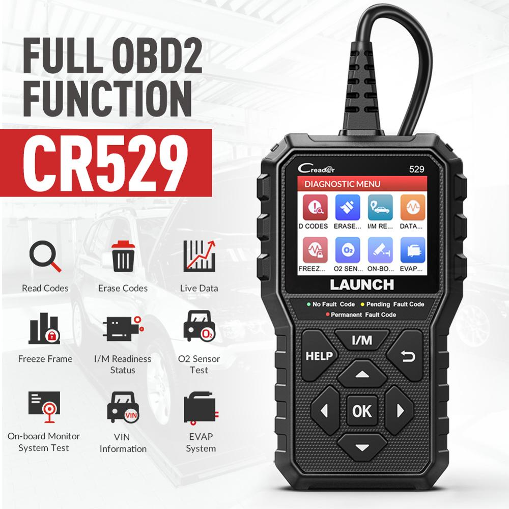 New LAUNCH CR529 OBD2 Car Scanner Auto Scan Tool Fault Code Reader Engine Check AutoScanner OBDII OBD Automotive Diagnostic Tool|Engine Analyzer|   - AliExpress