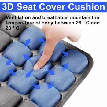 Air Inflatable Seat Cushion Mat 3D Pressure Relief Chair Cushion Orthopedic Seat for Home Office Car Wheelchair