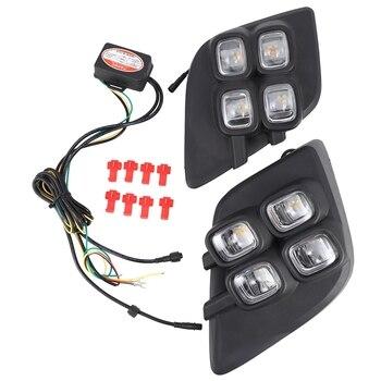 for Toyota Yaris 2013-16 LED DRL Daytime Running Lights Daylight Fog Lamp