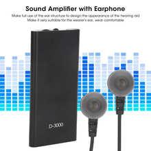 D3000 Digitale Sound Hearing Versterker Voice Enhancer Apparaat Ruisonderdrukking Met Oortelefoon Beste Geluidsversterkers Verstelbare Tone
