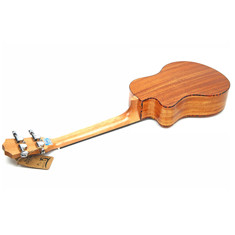 Kits de ukulélé de Concert 23 pouces acajou Uku 4 cordes Mini guitare hawaïenne avec sac accordeur sangle Capo pique des pics pour débutant Musi - 5