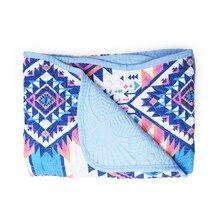 Образец, высокое качество, детское одеяло s, стеганое, голубое, Ацтекское, детское одеяло и розовая Пеленка, флис, Детская накидка DOM109GB003