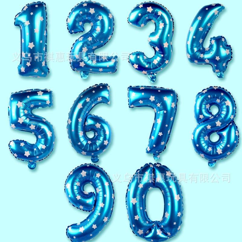 Shi Jing Balloon 16-Inch With Numbers Shi Jing Balloon Wedding Birthday Scene Decorative 16-Inch With Numbers Shi Jing Balloon