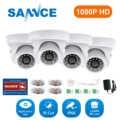 SANNCE 4PCS 1080P HD AHD Security Dome Camera Smart IR Night Vision CCTV Surveillance Camera Indoor Outdoor Weatherproof Cameras
