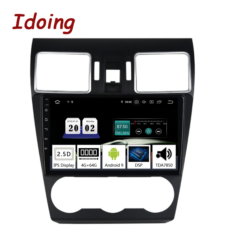Idoing 9 2.5D TDA7850 Car Android9.0 Radio Multimedia Player For Subaru Forester 2016-2018 PX5 4G+64G Octa Core GPS Navigation